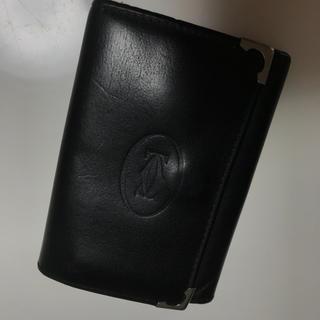 カルティエ(Cartier)のカルティエ キーケース 本物 正規品 6連 ブラック 革(キーケース)