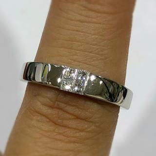 ヴァンドームアオヤマ(Vendome Aoyama)のPT950 プリンセス ダイヤモンド リング 0.20ct(リング(指輪))