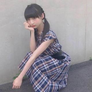 ジーユー(GU)の新品*タグ付き GU gu ❤️ マドラスチェック ブラウス&スカート    (ロングスカート)