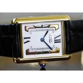 カルティエ(Cartier)の美品 カルティエ マスト タンク トリニティ LM Cartier (腕時計)
