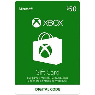 エックスボックス(Xbox)のXbox Live 北米ギフトコード 50ドル(家庭用ゲームソフト)
