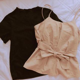 シマムラ(しまむら)のビスチェ Tシャツ 2点セット(ベアトップ/チューブトップ)