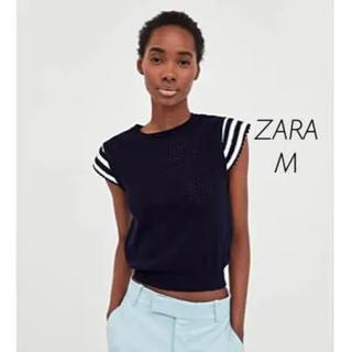 ザラ(ZARA)の【新品・未使用】ZARA クロシェ編み セーター Mサイズ(ニット/セーター)