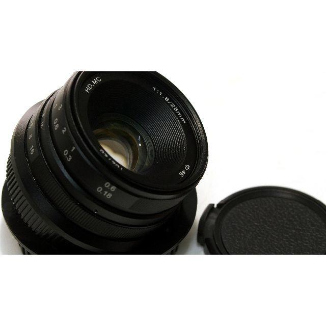 OLYMPUS(オリンパス)のmuk CL25MFT 中華レンズ Chinar 25mm f1.8 MFT スマホ/家電/カメラのカメラ(レンズ(単焦点))の商品写真