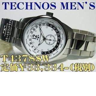 テクノス(TECHNOS)のTECHNOS MEN'S T4378SW 定価¥33,334-(税別)新品(腕時計(アナログ))