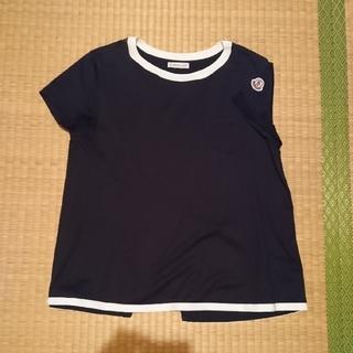 モンクレール(MONCLER)の🐼モンクレールバックフレアカットソーxs黒×白🐼(Tシャツ(半袖/袖なし))