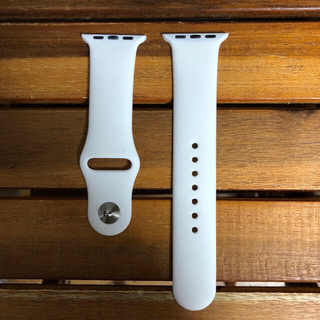 新品 42mm/L 白 アップルウォッチ ベルト(腕時計(デジタル))