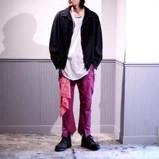 ヨウジヤマモト(Yohji Yamamoto)の専用こば様 sulvam 17aw SPATS PANTS 変形パンツ サイズS(サルエルパンツ)