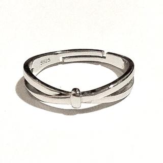 アガット(agete)のリボンクロス シルバーリング フリーアジャスト 未使用 新品(リング(指輪))