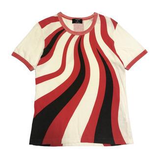カバンドズッカ(CABANE de ZUCCa)のCABANE de ZUCCA ファイヤーパターン Tシャツ / カットソー(Tシャツ/カットソー(半袖/袖なし))