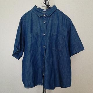 ジーユー(GU)のGU  半袖デニムシャツ(シャツ/ブラウス(半袖/袖なし))