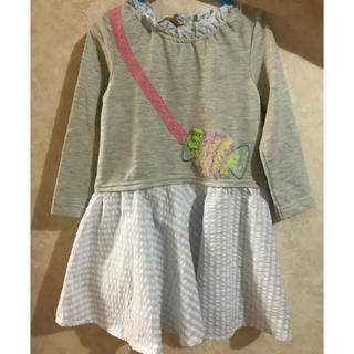 シマムラ(しまむら)の子供服(ワンピース)☆サイズ100cm☆Lemon tRee(ワンピース)