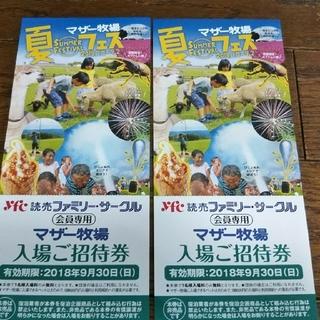 yoshi様専用!マザー牧場ご招待券です。  3枚です         (遊園地/テーマパーク)