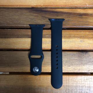 新品 42mm/L 黒 アップルウォッチ ベルト(腕時計(デジタル))