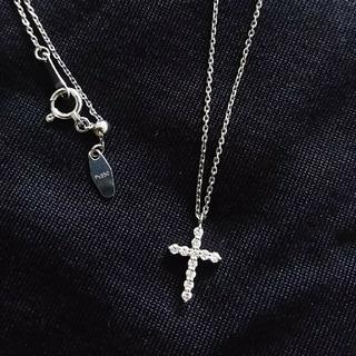ヴァンドームアオヤマ(Vendome Aoyama)のヴァンドーム青山 クロス ネックレス プラチナ ダイヤ(ネックレス)