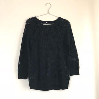 MUJI (無印良品) - 無印良品 サマーセーター かぎ編み メッシュ