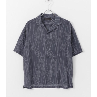 センスオブプレイス  ウェーブガラオープンカラーシャツ