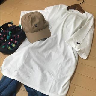 チャンピオン(Champion)の《新品》チャンピオン  ビックシルエット  半袖 Tシャツ ロング丈 L(Tシャツ(半袖/袖なし))