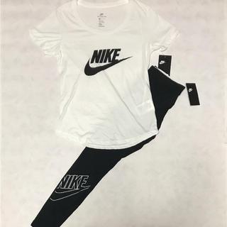 ナイキ(NIKE)の人気NIKEビッグロゴ‼️NIKE レディース セットアップ L(Tシャツ(半袖/袖なし))