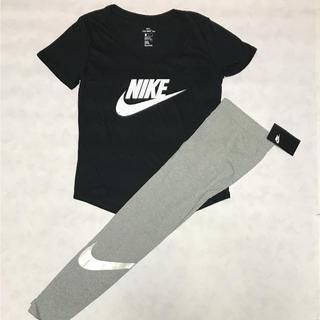 ナイキ(NIKE)の早い者勝ち‼️NIKE ビッグロゴ Tシャツ・スパッツ セット売り L(トレーニング用品)