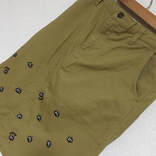 ラフ(rough)のラフ 猫ちゃん刺繍のスカート(ひざ丈スカート)