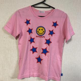 エンジェルブルー(angelblue)のANGEL BLUE☆スマイルピンクTシャツ(Tシャツ(半袖/袖なし))