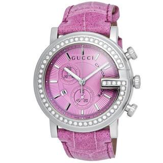 グッチ(Gucci)の[グッチ]GUCCI 腕時計 Gクロノ ピンク文字盤 YA101313 メンズ(腕時計(アナログ))