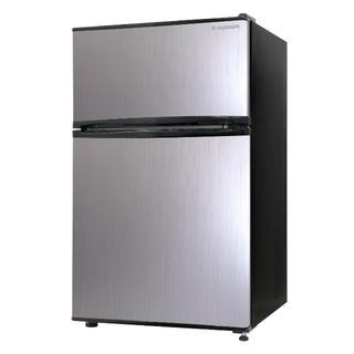 エスキュービズム 2ドア冷蔵庫 WR-2090SL シルバーヘアライン 90L (冷蔵庫)