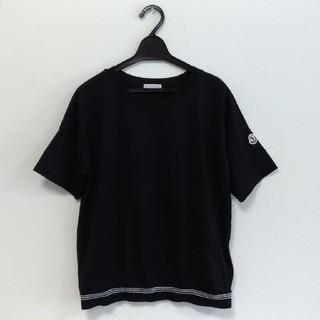 モンクレール(MONCLER)の美品 モンクレール Tシャツ 黒 ブラック ドロップショルダー レディースM程度(Tシャツ(半袖/袖なし))