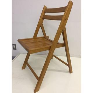木製 折りたたみ椅子 木座 ブラウン(No.07359)
