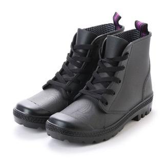 レディースハイカットレインシューズ(ブラック)Lサイズ 16042(レインブーツ/長靴)