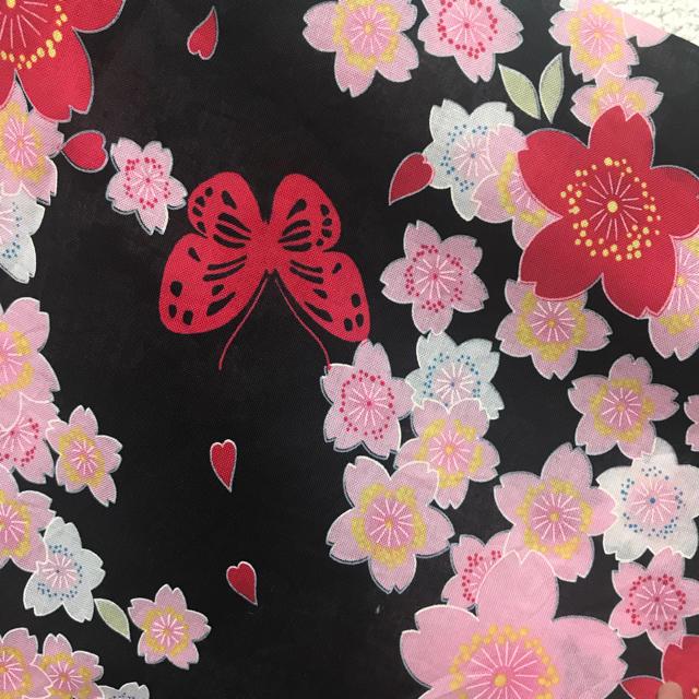 しまむら(シマムラ)の女の子 浴衣 桜柄❤ キッズ/ベビー/マタニティのキッズ服 女の子用(90cm~)(甚平/浴衣)の商品写真