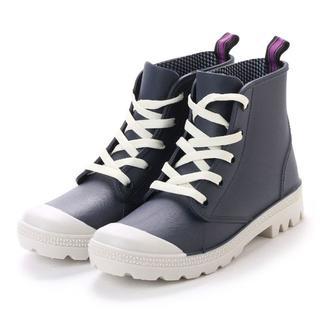 レディースハイカットレインシューズ(ネイビー)Lサイズ 16042(レインブーツ/長靴)