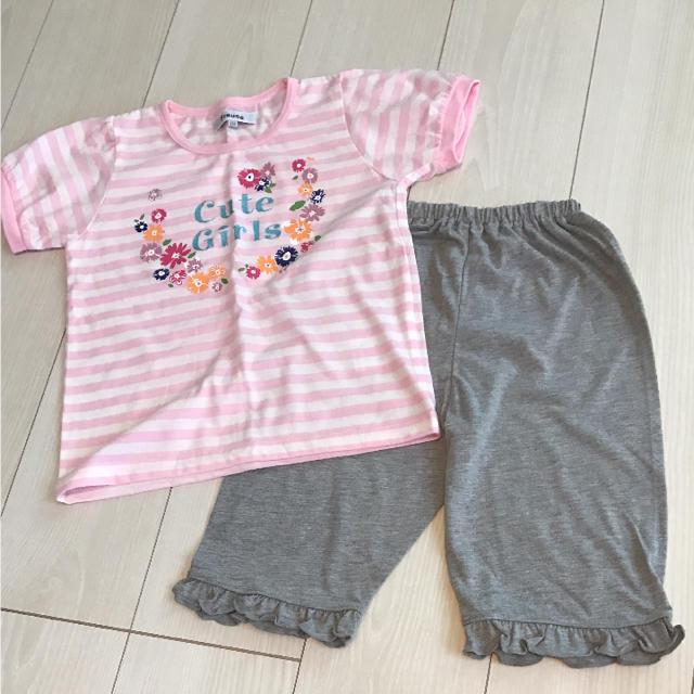 しまむら(シマムラ)の新品 しまむら 半袖パジャマ 110 キッズ/ベビー/マタニティのキッズ服 女の子用(90cm~)(パジャマ)の商品写真