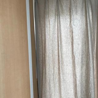 ムジルシリョウヒン(MUJI (無印良品))の(専用)無印/カーテン/綿100%/モカ/一枚(カーテン)