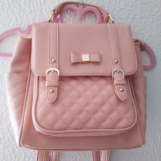 しまむら(シマムラ)のリズメロ キルティング風 リュック♥️ レディースのバッグ(リュック/バックパック)の商品写真