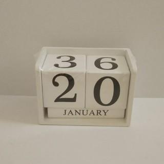 新品 ブロックカレンダー 白