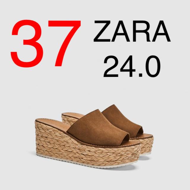 ZARA(ザラ)のZARA  レザー ウェッジサンダル レディースの靴/シューズ(サンダル)の商品写真