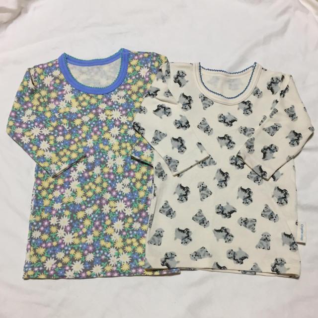 しまむら(シマムラ)の七分袖肌着 二枚セット キッズ/ベビー/マタニティのベビー服(~85cm)(肌着/下着)の商品写真