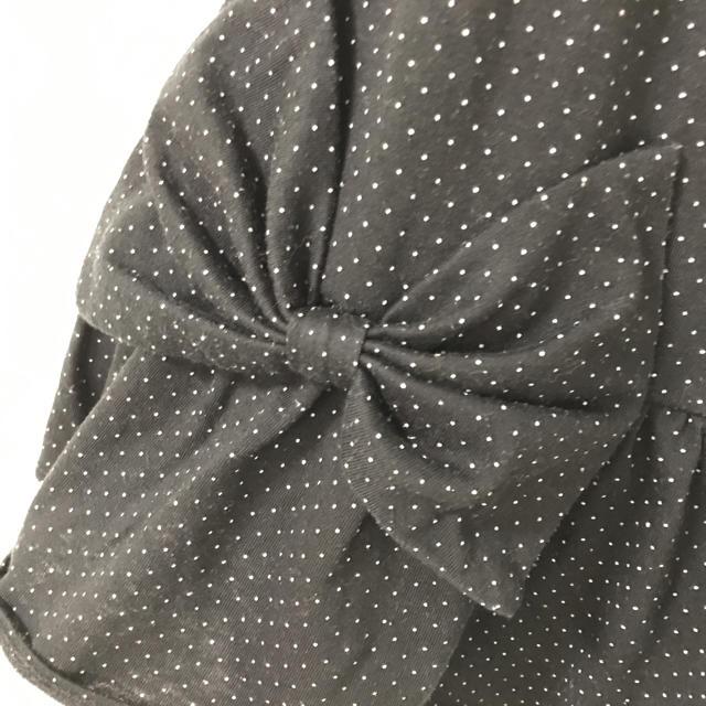 GU(ジーユー)の110 ジーユー デカリボンワンピ キッズ/ベビー/マタニティのキッズ服 女の子用(90cm~)(ワンピース)の商品写真