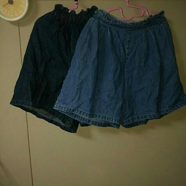 GU(ジーユー)の女の子 キュロット 2点セット キッズ/ベビー/マタニティのキッズ服 女の子用(90cm~)(その他)の商品写真