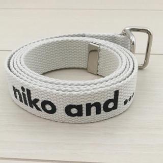 ニコアンド(niko and...)のニコアンド  ロゴテープ ベルト(ベルト)
