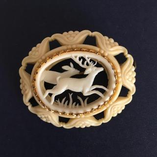 ミナペルホネン(mina perhonen)のアンティーク ベークライトブローチ(ブローチ/コサージュ)