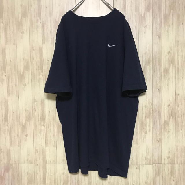 NIKE(ナイキ)の美品 NIKE Tシャツ swoosh ワンポイント 海外古着 刺繍ロゴ メンズのトップス(Tシャツ/カットソー(半袖/袖なし))の商品写真