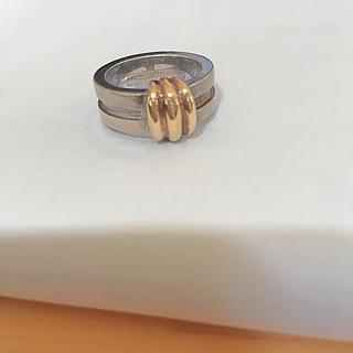 ティファニー(Tiffany & Co.)のティファニー⋆シルバーと18金のコンビリング💍7号(リング(指輪))