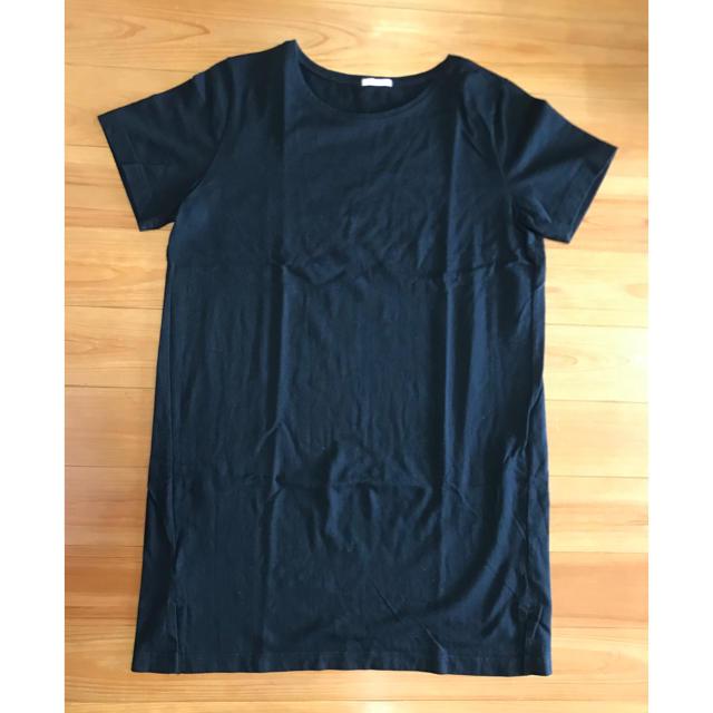 GU(ジーユー)のヘビーウェイトロングT   XL レディースのワンピース(ひざ丈ワンピース)の商品写真