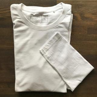 ユニクロ(UNIQLO)のUNIQLO ベーシック 白Tシャツ(Tシャツ/カットソー(七分/長袖))