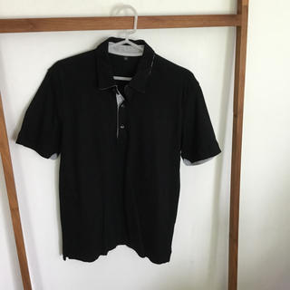 無印 ポロシャツ 黒 S ブラック メンズ 試着のみ(ポロシャツ)