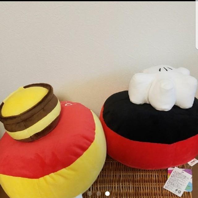 Disney(ディズニー)の【新品/送料込】ミッキー プーさん クッション エンタメ/ホビーのおもちゃ/ぬいぐるみ(キャラクターグッズ)の商品写真