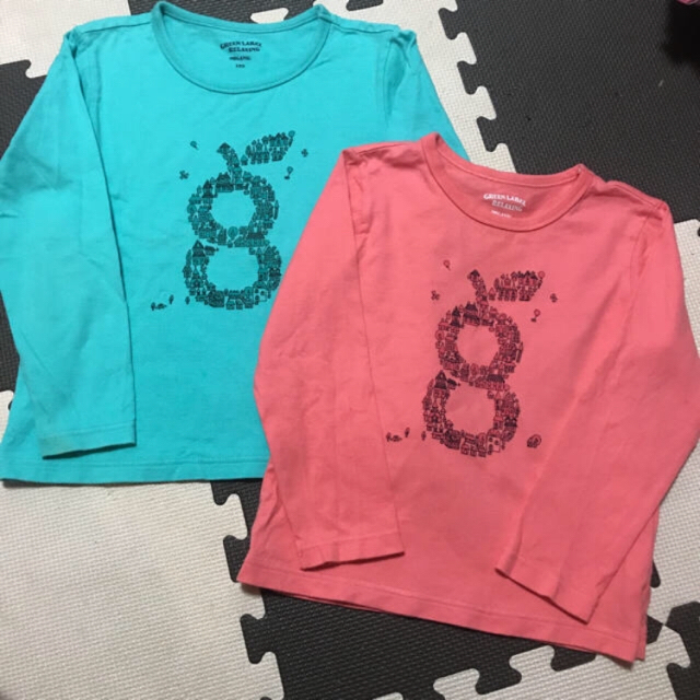 Disney(ディズニー)のディズニー Tシャツ お揃い 120と100 キッズ/ベビー/マタニティのキッズ服 男の子用(90cm~)(Tシャツ/カットソー)の商品写真